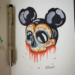 mickeymouse mickey mouse disney darkdisneyart freetoedit