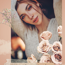 freetoedit template flowers march8 girl