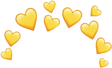 yellowhearts yellow heart hearts aesthetic freetoedit