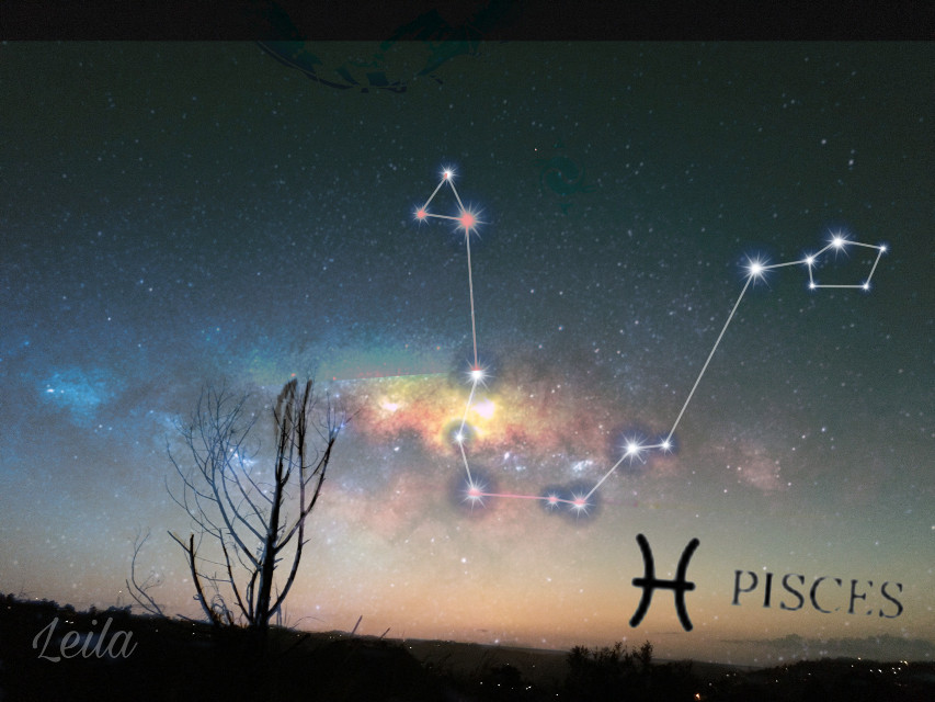 Just a little edit edit #starsigns #galaxy #galaxybackground #pisces #stickers freetoedit