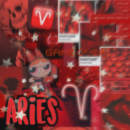 aries zodiac zodiacsign zodiacsigns red freetoedit