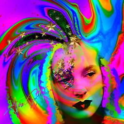 myoriginalwork originalart conceptart womanportrait colorful echolographicslime