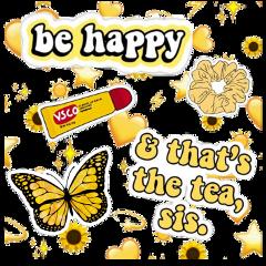freetoedit yellow vscogirl thatstheteasis behappy