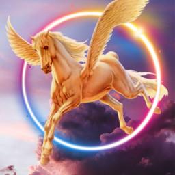 unicornio🌈 arcoiris nuvesrosa freetoedit unicornio irccottoncandyskies cottoncandyskies