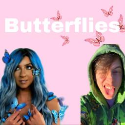 youtube butterflies gabbiehanna thomassanders freetoedit