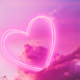 clouds pinkclouds heart neon pink irccottoncandyskies freetoedit