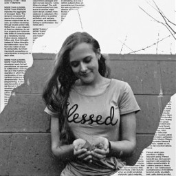 freetoedit blackandwhite blessed newspaper
