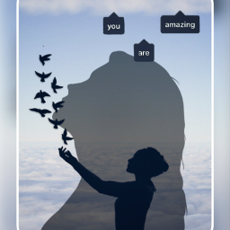 sillhouette girlsilhouette growingup birds quotes freetoedit