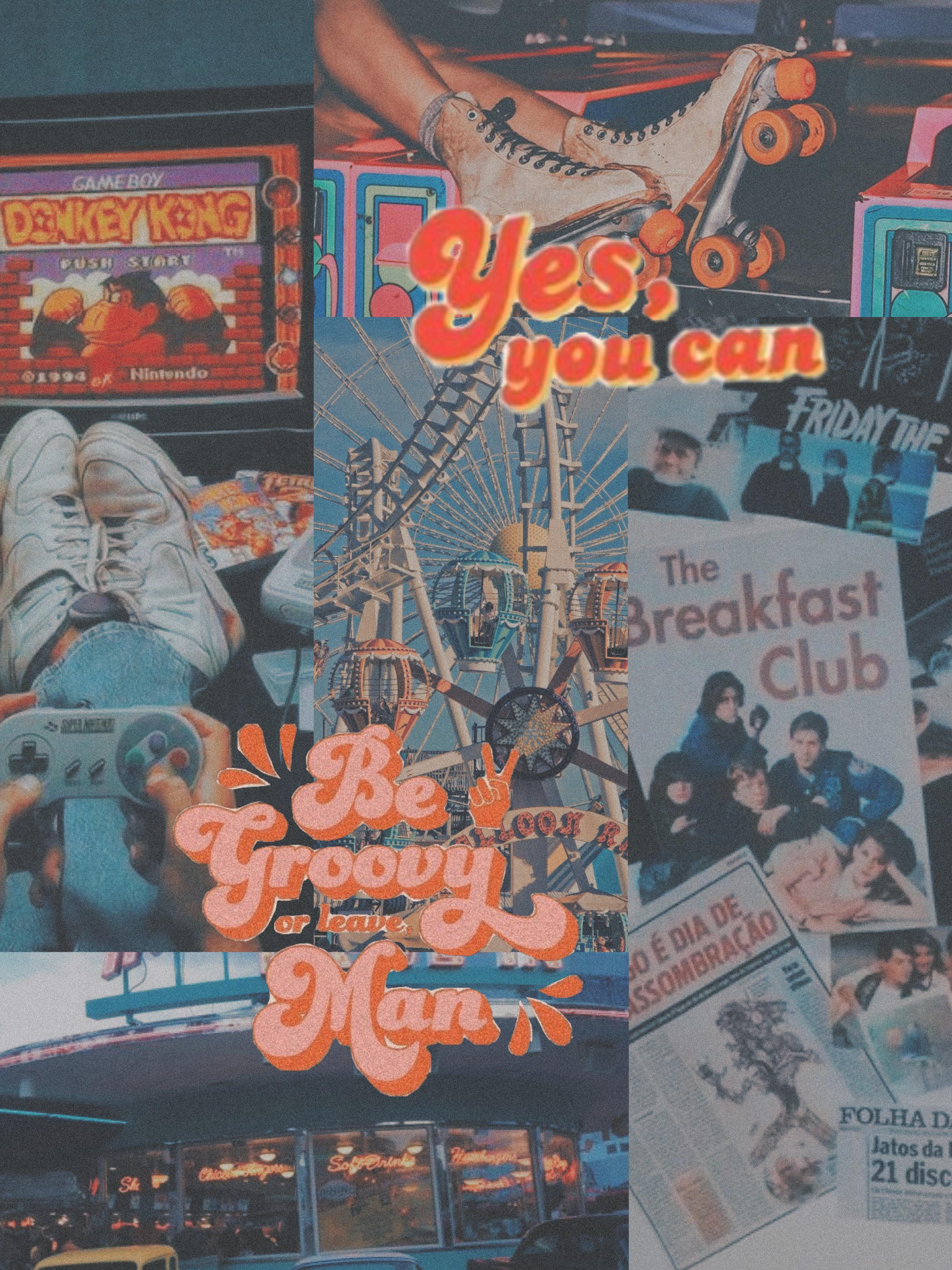 Retro Wallpaper 80s Vintage 90s Aesthetics