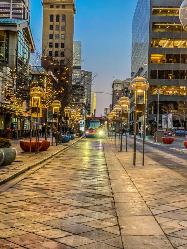 #denver #travel #travelphotograhy #sunset #colorado #city #cityscape #downtown #bus #streets #lights #cityscape #night #buildings #architecture #freetoedit