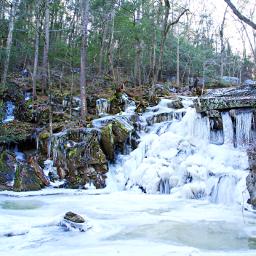 freetoedit naturephotograpy cliff woodland frozenwaterfall