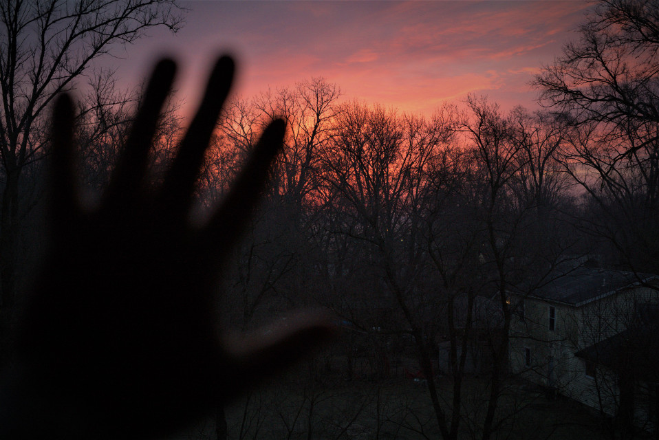 #sunrise #indiana #travel #hotelwindow #photography #hand #dark   Out of town on a business trip and my hotel window was facing the sunrise and I had to leave for my training 😑