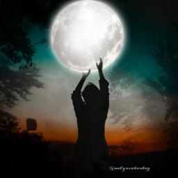 freetoedit moon silhouette ircdancinginthemoonlight dancinginthemoonlight