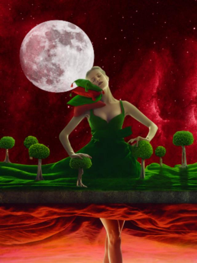 #freetoedit #vipshoutout #fantasyart #woman #goddess #moonlight #surreal #surrealistic #artisticedit #becreative #myedit #madewithpicsart