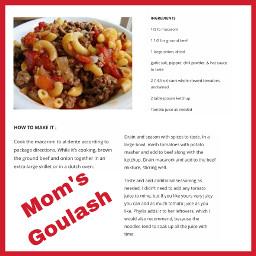 freetoedit recipe goulash momsgoulash food