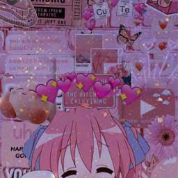 pink animeedit japan freetoedit