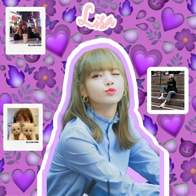 LISA BLACKPINK #france #lisa #lisablackpinkedit  #blackpink #purple #love  #freetoedit