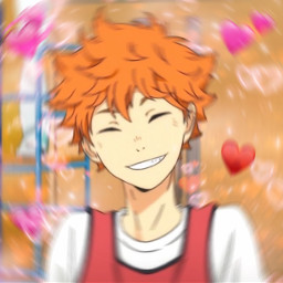 haikyuu hinata heartemoji heartmeme edit freetoedit