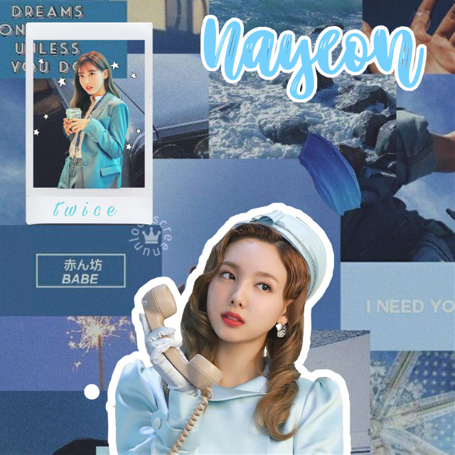 n a y e o n 💙 #nayeon #nayeonfromtwice #twice #kpop #freetoedit #blue #aesthetic #birthday #japan #wedding #france #art #photography