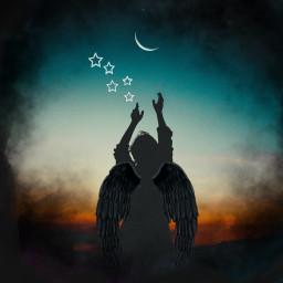 freetoedit star pd ircdancinginthemoonlight dancinginthemoonlight silhouette