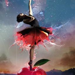 freetoedit remix ballerina apple red