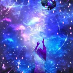 dancinginthemoonlight picsartchallenge purplenblue stars moonlighteffect ircdancinginthemoonlight freetoedit