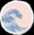 #vsco #sticker #waves #wavecheck #wave #waveaesthetic #pink #circle #aesthetic #interesting #beach #freetoedit