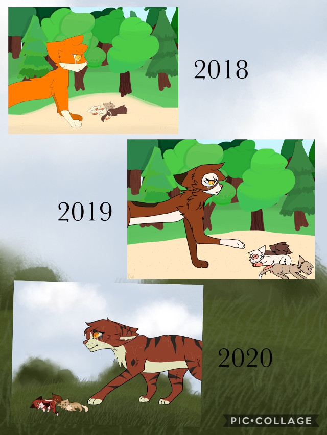 And again .-. WHY DOES EVERY CAT HATE MAPLESHADE SHAME ON THEM SMFH  #art #digitalart #drawing #cat #cats #warriorcats #mapleshade #erinhunter #forest #dead #sad #drowned #progression