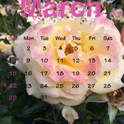 flower freetoedit srcmarchcalendar marchcalendar