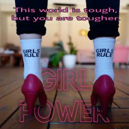 freetoedit girlpower empowerment womensday stayingstrong srcgirlpower