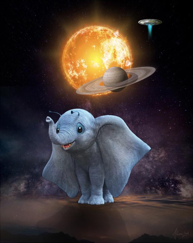 Have a fantastic day planet 👋🏻👽👉🏻☕️🍪@picsart  #freetoedit #dumbo #stich #hybrid #fantasy #dumbstich #waltdisney #space #aliens #wallpaper #hd #editedwithpicsart #alienized