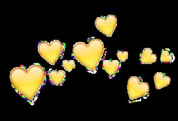 heart hearts crown tiara yellow freetoedit