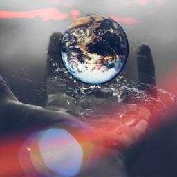 unsplash earth hand light