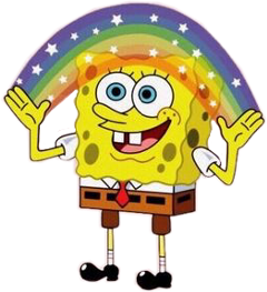 spongebob rainbow stars aesthetic vsco freetoedit