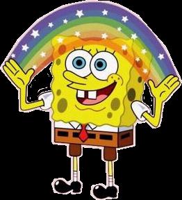 #spongebob #rainbow #stars #aesthetic #vsco #cartoon #patrick #meme #vine #cute #yellow #freetoedit
