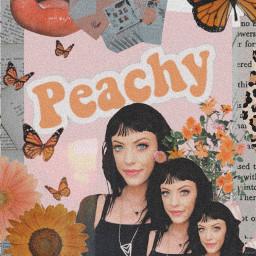 freetoedit peachy aesthetic orange woman