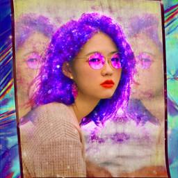freetoedit galaxybrush galaxyhair frame holographic