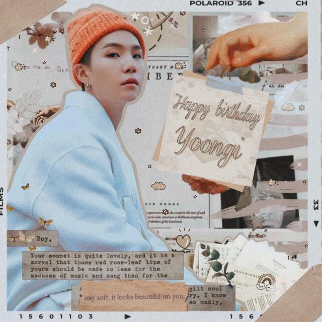 Happy Birthday to BTS'irreplaceable, incredible, inspiring Min Yoongi! I wish for you the best things in life and for you to stay healthy and strong.  Happy Birthday Suga🎉🎂 #SugaDay #AyoSUGA #GeniusYoongiDay #HappyBirthdaySuga #HappySugaDay #HappyBirthdayYoongi #YoongiYouShineSoBright #ShiningDayOfMinPD #KingSugaDay #RapStarSugaDay #SugaOurBrightestStar #ItsSugaHyungDay #MusicianSugaDay #YoongiOurStartAndEnd  .. #soft #cute #messy #minyoongi   #yoongiedit #sugaedit #btsedit #yoongi #bts #suga ♡