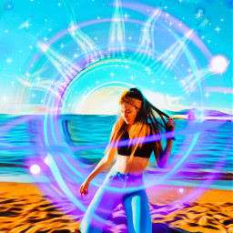 freetoedit fxeffects oilpaintingeffect neoncircle sparkles