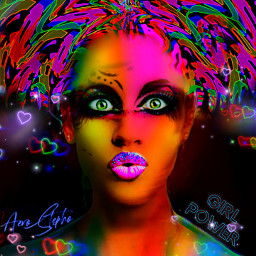 freetoedit myoriginalwork originalart womanportrait colorful srcgirlpower