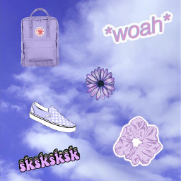 freetoedit vsco purple scrunchie kanken