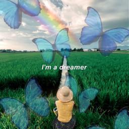 freetoedit dream rainbow butterfly dreamer ircstopandstare stopandstare