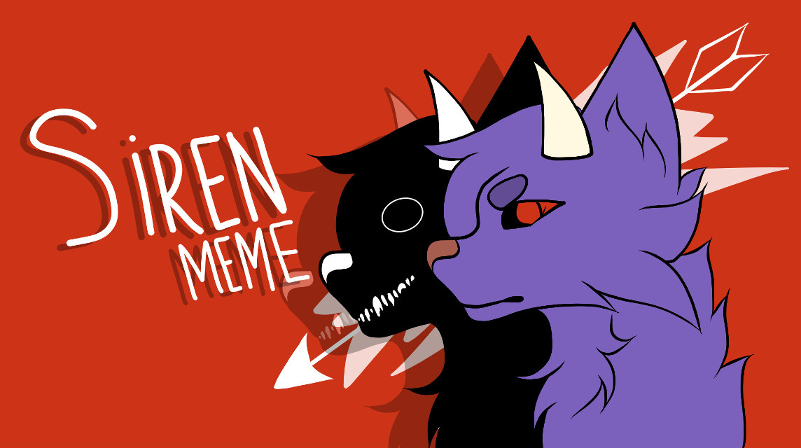 Siren Meme Cover 1/2  Cover for a new animation meme ima do soon ;-; The style is different bc it's my animating style, trying to keep it simple.  @petiteedits @darcywolf_gl @twilightoutlines @kittqn @pastel_outliness @saaniiiii @twinkletaee   #animation #siren #meme #art #digitalart #oc #purple #red #blood #cover #animationmeme #wolf #furry #myart #plsdontsteal