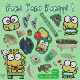 keroppi sanrio sanriocharacters frog green freetoedit