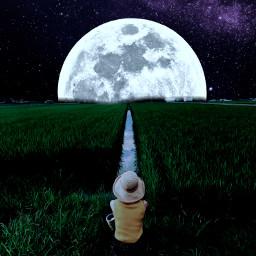freetoedit moon galaxy ircstopandstare stopandstare