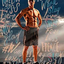 muscle man workout picsart picsartedit freetoedit womensday