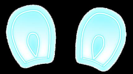 ears neon blue bunny easter freetoedit
