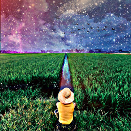 freetoedit grassland grass person galaxy ircstopandstare stopandstare