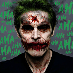 freetoedit williamdafoe joker myedit surreal dccomics