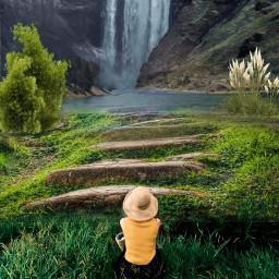 freetoedit landscape scenery waterfall path ircstopandstare stopandstare